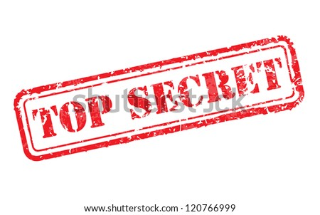 Top secret rubber stamp illustration