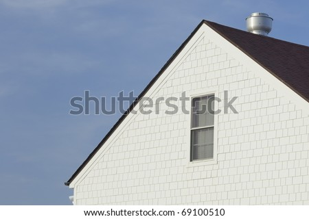 Top Section of White House with Wood Shingles