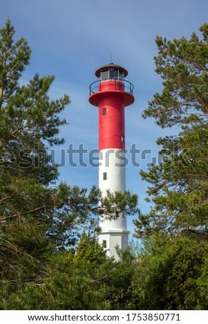 Top Soru lighthouse on Hiiumaa island, Estonia Stok fotoğraf ©
