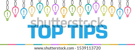 Top tips concept image with text and related symbols.