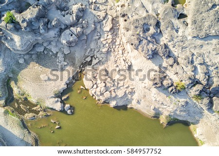Top view aerial photo from drone of canyon range 3000 boke in Thailand #584957752