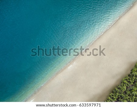 Top view aerial photo of an amazingly beautiful sea landscape #633597971