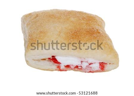 top view apple raspberry pastry