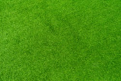 Top view, Artificial grass of texture in football club.