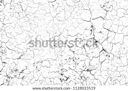 top view cracked soil ground Earth texture on white background, desert cracks,Dry surface Arid in drought land, floor has many grooves and scratches. The distressed has been shown to last a long time. #1128023519