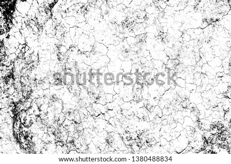 top view cracked soil ground Earth texture on white background, desert cracks,Dry surface Arid in drought land, floor has many grooves and scratches. The distressed has been shown to last a long time. #1380488834