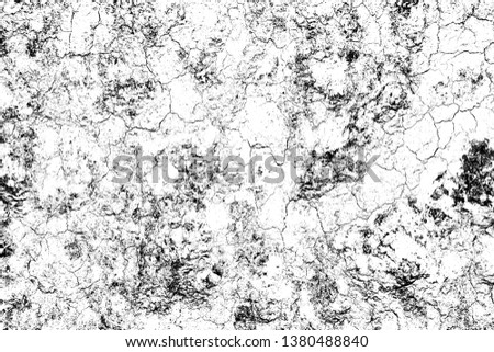 top view cracked soil ground Earth texture on white background, desert cracks,Dry surface Arid in drought land, floor has many grooves and scratches. The distressed has been shown to last a long time. #1380488840