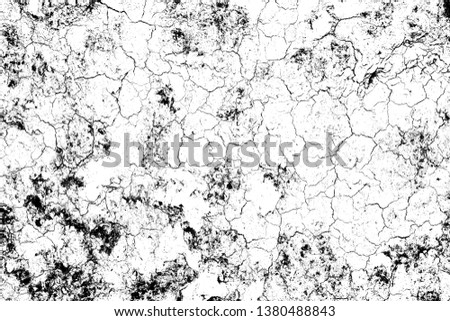 top view cracked soil ground Earth texture on white background, desert cracks,Dry surface Arid in drought land, floor has many grooves and scratches. The distressed has been shown to last a long time. #1380488843