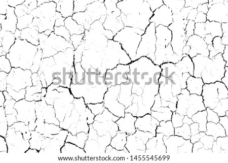 top view cracked soil ground Earth texture on white background, desert cracks,Dry surface Arid in drought land, floor has many grooves and scratches. The distressed has been shown to last a long time. #1455545699