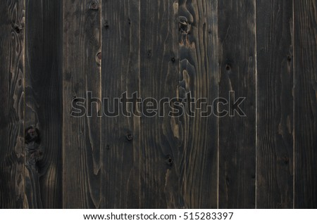 top view dark or black vintage wood table, wall or floor for work and place object, or wooden board for food preparation in the kitchen on vertical and use for background