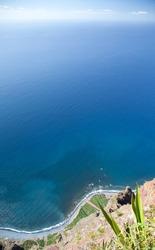 Top view Gabo Girao,  Madeira, Portugal