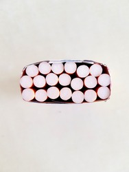 Top view group of cigarettes, pack of cigarette on white background, weed, baccy or tobacco smoking death and danger concept, the cigarettes made cancers.