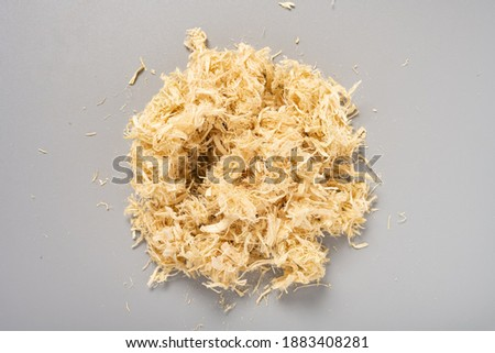 top view herb ZhuRu or Bambusae Caulis in Taenias or Bamboo Shavings Foto stock ©