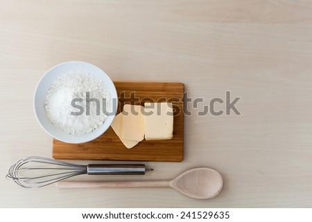top view ingredients to bake #241529635
