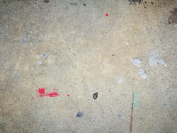 top view minimal dripping paint on cement floor surface background