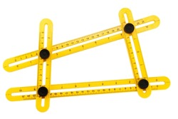 top view multi high-precision angle ruler carpentry, joinery and construction folding movable turning ruler