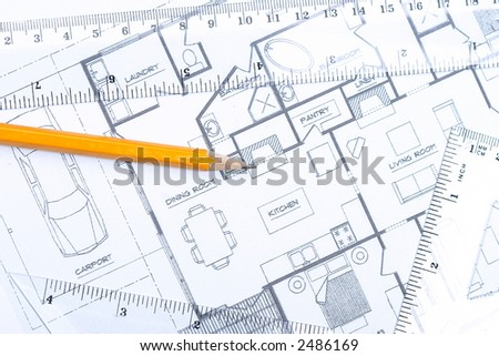 Top View Of A Pencil And Geometric Tools On Top Of Floor
