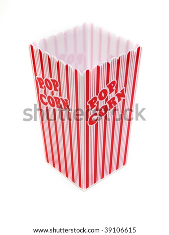 top view of a pop corn box isolated against white background