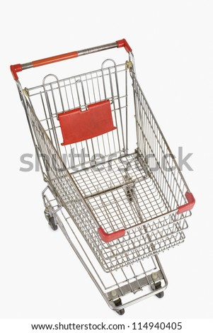 Top view of a shopping cart