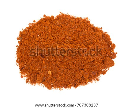 Shutterstock Top view of a small portion of Sriracha seasonings isolated on a white background.