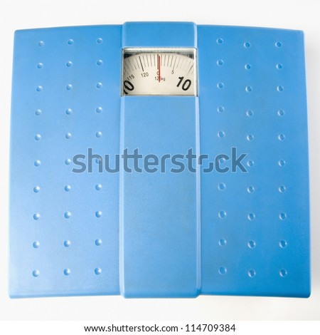 Top view of a weighing scale