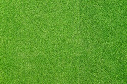 Top view of Artificial Grass background and texture, Green grass on soccer field