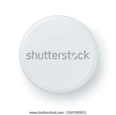 Top view of blank cosmetics jar isolated on white Stockfoto ©