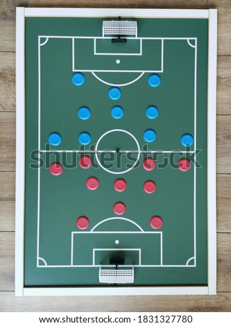 Top view of Brazilian Button Soccer Toy  Foto stock ©