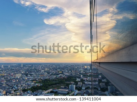 Top view of buiding city scape - stock photo