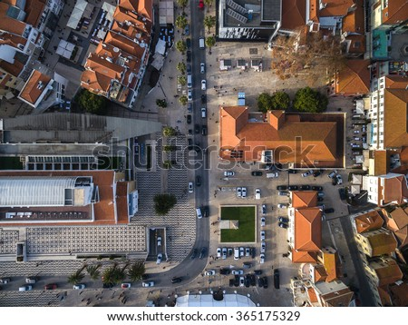 Top View of Cascais Streets, Portugal