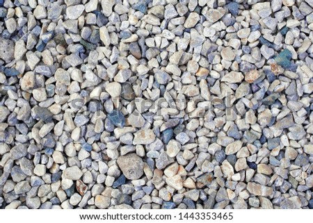 top view of crushed stones rubble texture