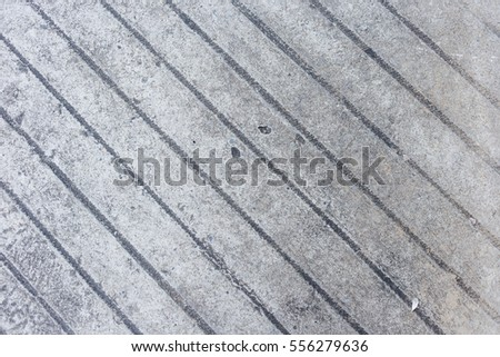 Top View Of Diagonal Lines Pattern Design On Cement Floor