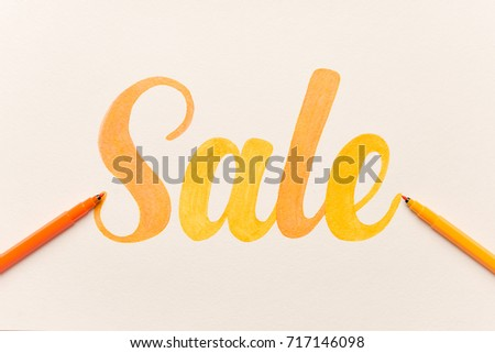 Popular free hand written or hand drawn letters script letters