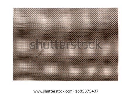 Top view of isolated brown placemat for food. Empty space for your design. Stock photo ©