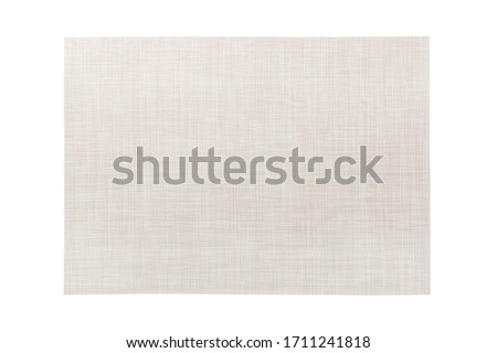 Top view of isolated white placemat for food. Empty space for your design. Stock photo ©