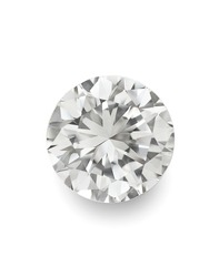 top view of loose brilliant round diamonds on white background with shadow high quality