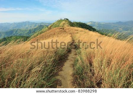 Top view of Mountain, Khao chang puak, Kanchanaburi, Thailand