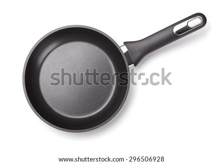 Shutterstock Top view of new empty frying pan isolated on white