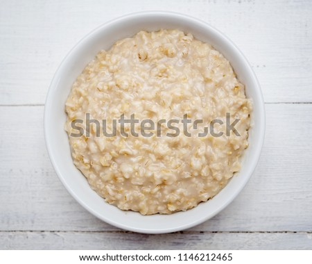Top view of oats porridge