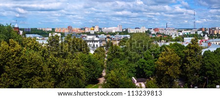 Top view of old Vladimir. Russia