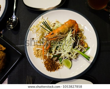 Free Photos Pad Thai With River Prawns Or Stir Fried Rice Noodle