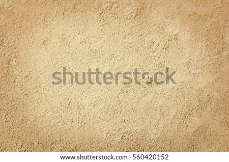 Top view of sandy beach. Background with copy space and visible sand texture. #560420152