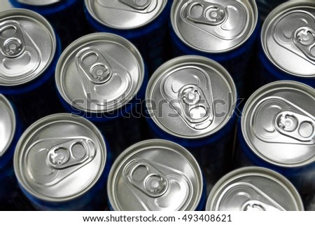 Top view of soft drink cans #493408621