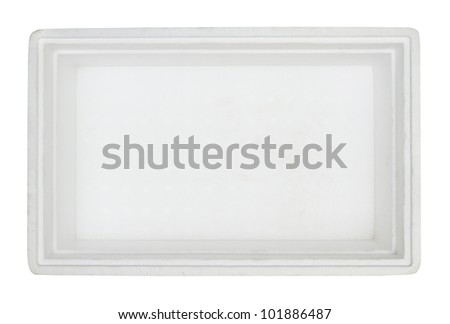 Top view of styrofoam box isolated on white background #101886487