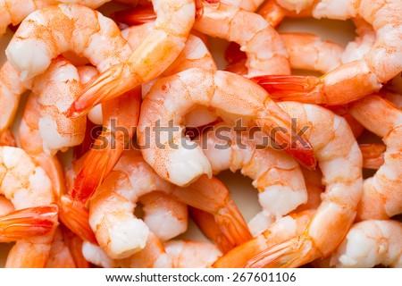 Shutterstock top view of tasty prawns