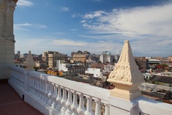 Top view of the roofs and buildings of Old Havana,Cuba
