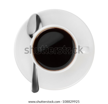 top view of the the black coffee