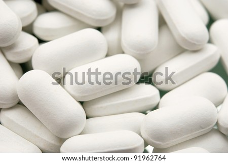 top view of the white pills