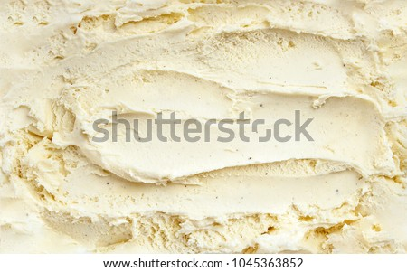 Top view of vanilla ice cream surface