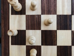 Top view on the chessboard